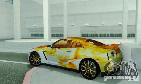 Nissan GTR Heavy Fire для GTA San Andreas вид сзади слева