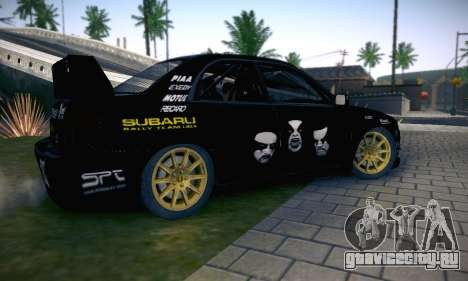 Subaru Impreza WRC STI Black Metal Rally для GTA San Andreas двигатель