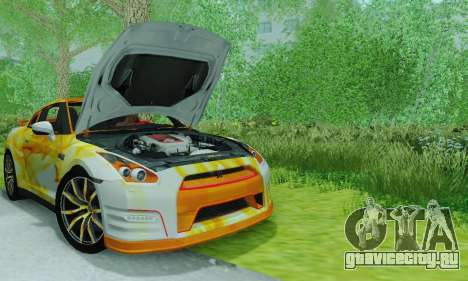 Nissan GTR Heavy Fire для GTA San Andreas вид справа