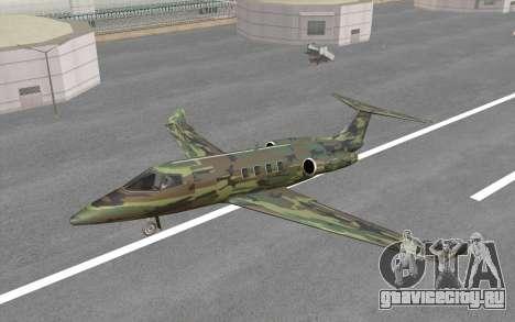 Camouflage Shamal для GTA San Andreas вид сзади