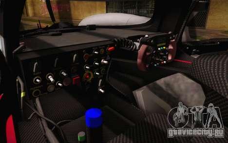 Audi R18 E-tron Quattro 2014 для GTA San Andreas вид снизу