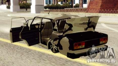 ВАЗ 2107 в камуфляже для GTA San Andreas вид справа