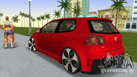 Volkswagen Golf GTI W12 для GTA Vice City вид слева