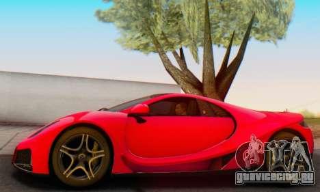 GTA Spano 2014 HQLM для GTA San Andreas вид изнутри