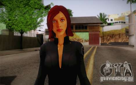 Scarlet Johansson из Avengers для GTA San Andreas третий скриншот