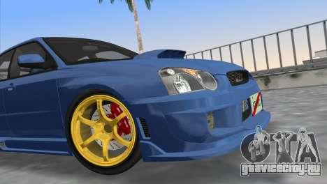 Subaru Impreza WRX STI 2005 для GTA Vice City вид справа