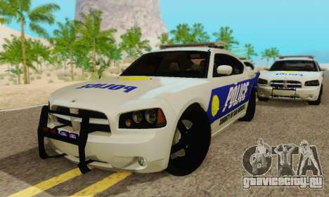 Pursuit Edition Police Dodge Charger SRT8 для GTA San Andreas вид изнутри