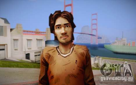 Luke из The Walking Dead для GTA San Andreas третий скриншот