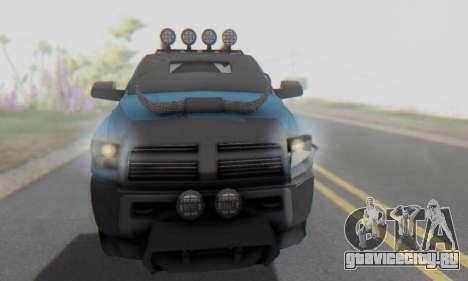 Dodge Ram 3500 Super Reforzada для GTA San Andreas вид сбоку