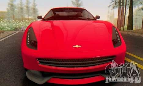 Dewbauchee Massacro 1.0 для GTA San Andreas вид слева