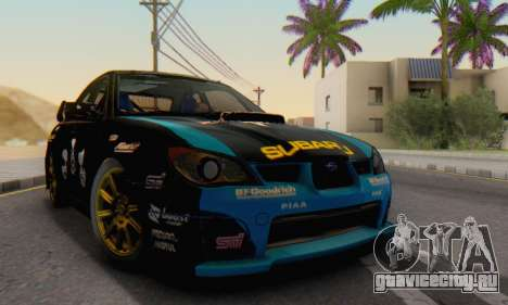 Subaru Impreza WRC STI Black Metal Rally для GTA San Andreas вид справа
