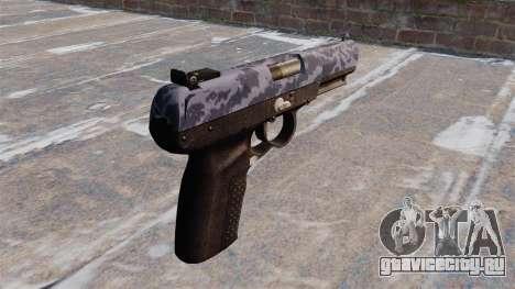 Пистолет FN Five-seveN Blue Camo для GTA 4 второй скриншот