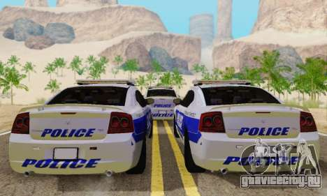 Pursuit Edition Police Dodge Charger SRT8 для GTA San Andreas вид справа