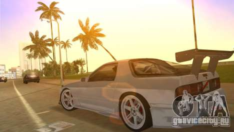 Mazda Savanna RX-7 III (FC3S) для GTA Vice City вид изнутри