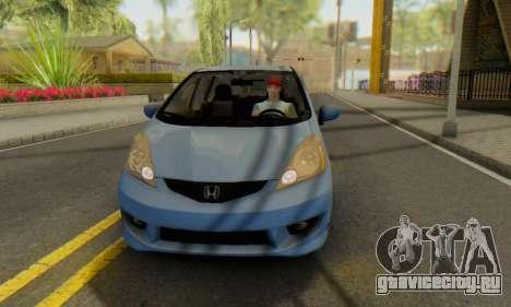 Honda Fit Stock 2009 для GTA San Andreas вид изнутри