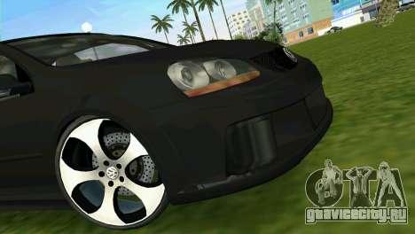 Volkswagen Golf GTI W12 для GTA Vice City вид сзади