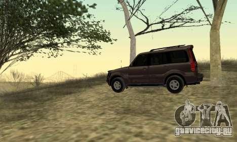 Mahindra Scorpio для GTA San Andreas вид справа