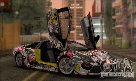 Lamborghini Murciélago 2005 Memes Editions HQLM для GTA San Andreas
