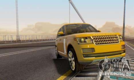 Range Rover Vogue 2014 V1.0 Interior Nero для GTA San Andreas вид сверху