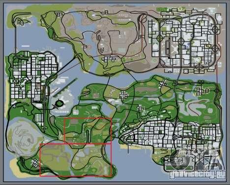 Густой лес v2 для GTA San Andreas седьмой скриншот