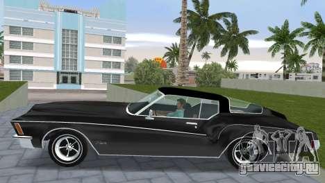 Buick Riviera 1972 Boattail для GTA Vice City вид сзади слева