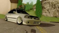 Honda Civic ek Coupe Hellaflush для GTA San Andreas