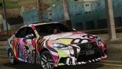Lexus IS350 FSPORT Stikers Editions 2014 для GTA San Andreas