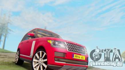 Range Rover Vogue 2014 V1.0 UK Plate для GTA San Andreas