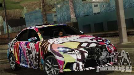 Lexus IS350 FSPORT Stikers Editions 2014 для GTA San Andreas