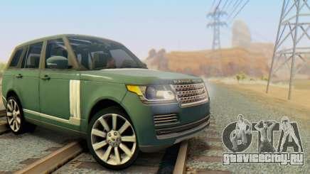 Range Rover Vogue 2014 V1.0 Interior Nero для GTA San Andreas