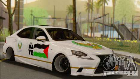 Lexus IS350 FSport 2014 Hellaflush для GTA San Andreas