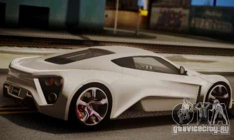 Zenvo ST SHDru Tuning для GTA San Andreas вид слева