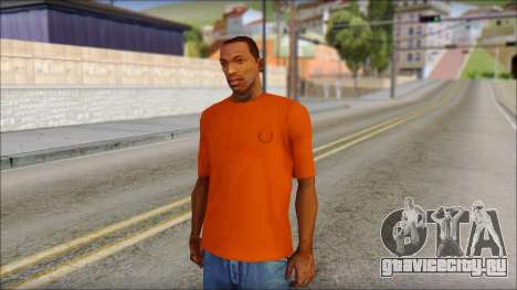 Fred Perry T-Shirt Orange для GTA San Andreas