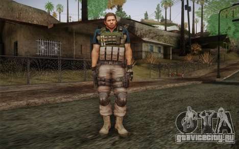 Chris Redfield from Resident Evil 6 для GTA San Andreas