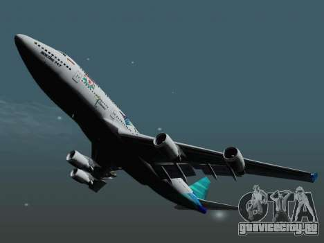 Boeing 747-400 Гаруда Индонезия для GTA San Andreas вид справа