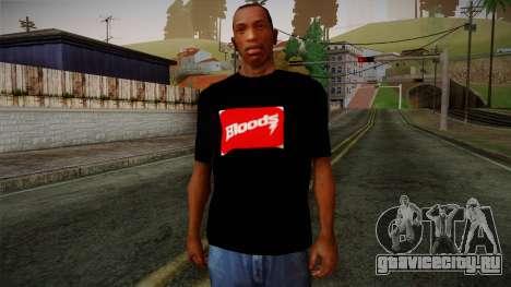Bloods T-Shirt для GTA San Andreas