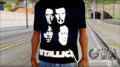 Metallica T-Shirt для GTA San Andreas третий скриншот