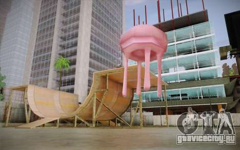 Медуза (Губка Боб) для GTA San Andreas второй скриншот