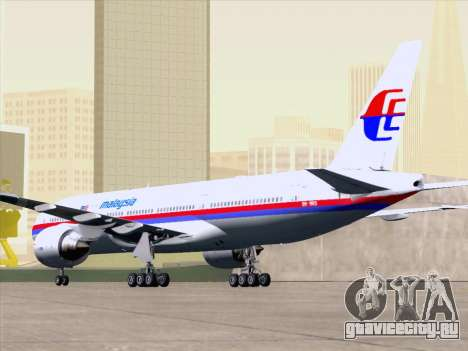 Boeing 777-2H6ER Malaysia Airlines для GTA San Andreas двигатель
