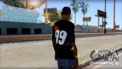 Fictional Carl Edwards T-Shirt для GTA San Andreas второй скриншот