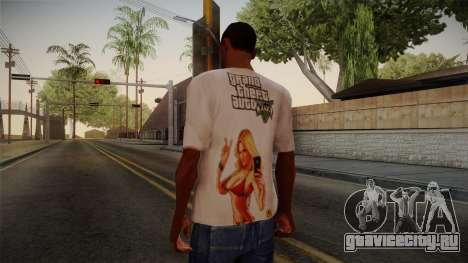 GTA 5 Hot Girl T-Shirt для GTA San Andreas второй скриншот