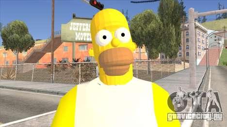 Homer Simpson Skin для GTA San Andreas третий скриншот