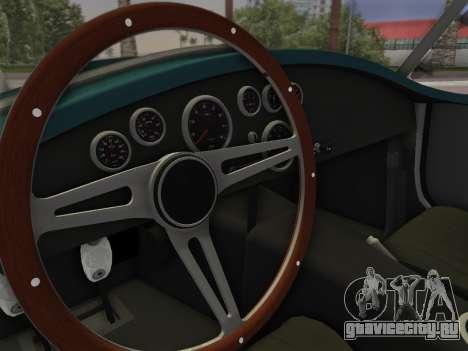 Shelby Cobra для GTA Vice City вид сзади слева