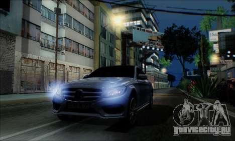 Mercedes-Benz C250 2014 V1.0 EU Plate для GTA San Andreas вид справа