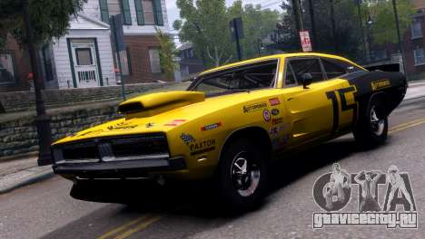 Dodge Charger RT 1969 EPM для GTA 4 вид сзади
