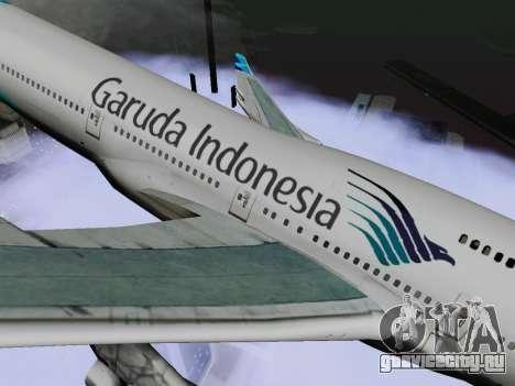Boeing 747-400 Гаруда Индонезия для GTA San Andreas вид сзади слева
