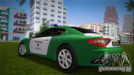 Maserati Granturismo Police для GTA Vice City вид слева
