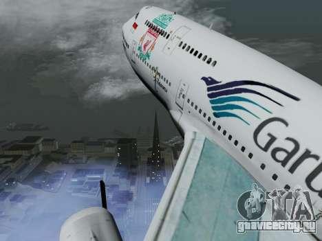 Boeing 747-400 Гаруда Индонезия для GTA San Andreas вид изнутри