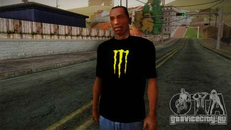 Monster Ripper Shirt Black для GTA San Andreas