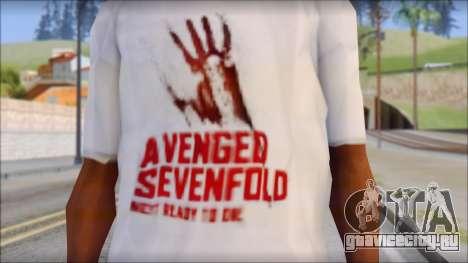 A7X Not Ready To Die Fan T-Shirt для GTA San Andreas третий скриншот
